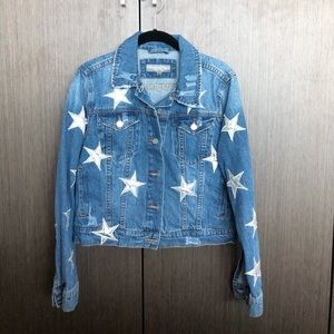 Denim jacket with stars